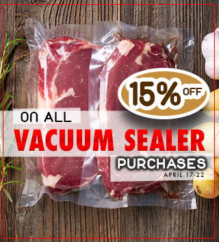 15 off all Vacuum Sealer Products