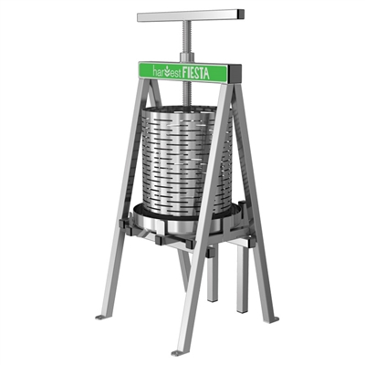Harvest Fiesta Stainless Steel Fruit And Wine Press 15l